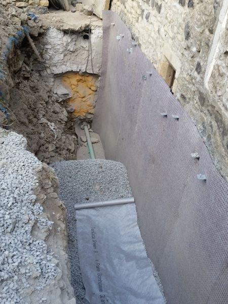 Réalisation de drains